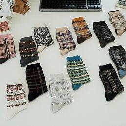 Jacquard Socks 3 Set