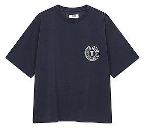 립컬러 포인트 티셔츠