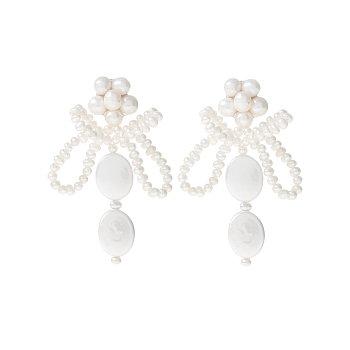 [태연,제시카 착용] Holiday Pearl Bee Earrings