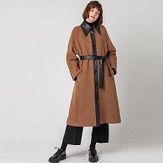Stand callor  angora coat(premium line)_BROWN