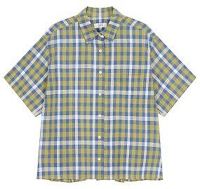 체크 루즈핏 셔츠