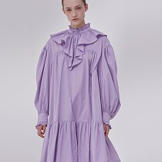 [예약주문 4.19 순차배송] DEMERE FLOORED COLLAR DRESS (PURPLE)