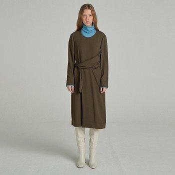 Waist Belted Dress / Khaki