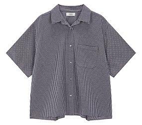체크 시어서커 하프슬리브 셔츠