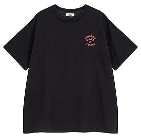 코튼스판 백프린트 티셔츠