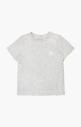 베이직 로고 반팔 티셔츠 - 라이트그레이