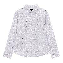 [주니어 남아] 로고 패턴 원 포켓 셔츠 [10세 이상]