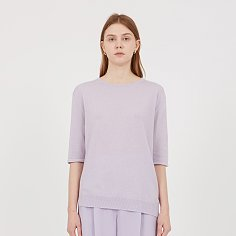 Lay Pure Cashmere Sweater - Lavender