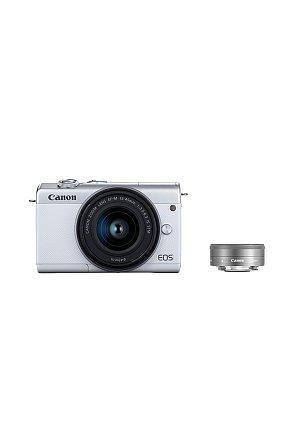 캐논 정품 미러리스 더블 렌즈킷 EOS M200 (White) 15-45/22 KIT