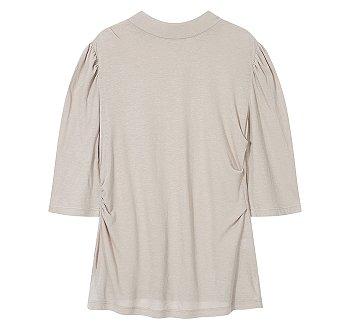 턱트 포인트 모크넥 이지 티셔츠