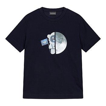리플렉트 문 크루넥 티셔츠