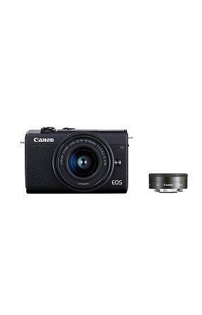캐논 정품 미러리스 더블 렌즈킷 EOS M200 (Black) 15-45/22 KIT