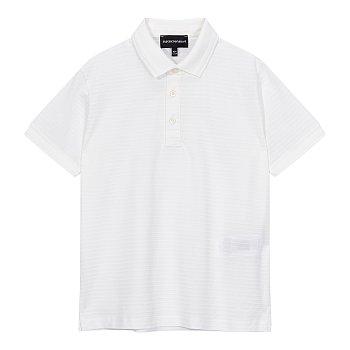 [주니어 남아] 스트라이프 조직 폴로 셔츠 [10세 이상]