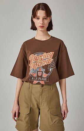 빈티지 레터링 티셔츠