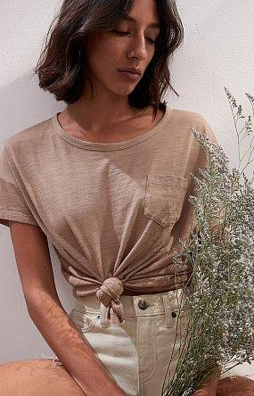 원 포켓 숏 슬리브 슬럽 티셔츠