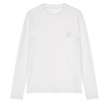 로고 자수 이지 티셔츠