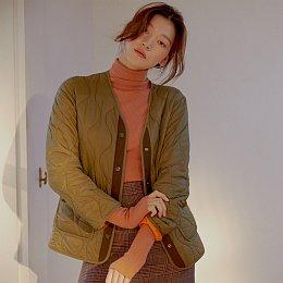 [주르 드 자주] 여 V넥 퀼팅 쟈켓