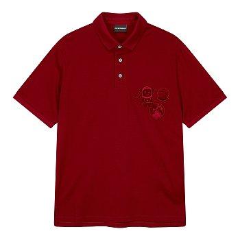 애스트로넛 와펜 카라 티셔츠