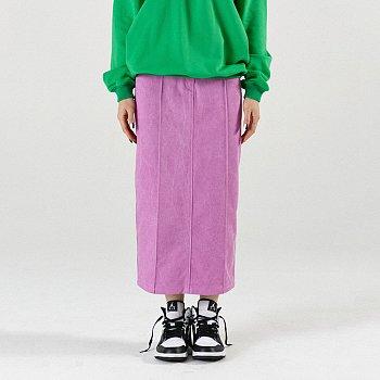 Pintuck Maxi Skirt Pink
