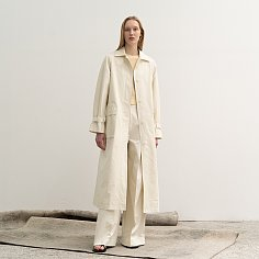 balmacaan trench coat (ivory)