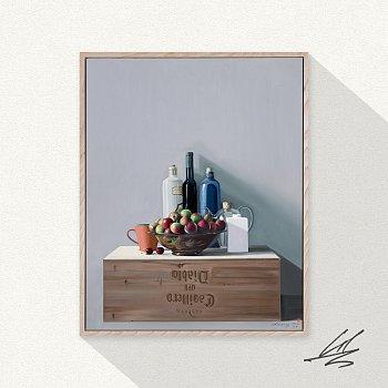 구자승, 와인상자 위의 정물 / The Still Life On The Winebox