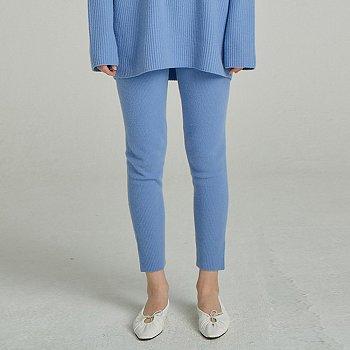 Wool Sweater Leggings / Light Blue