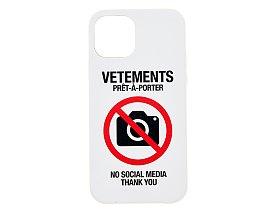[Vetements] NO SOCIAL MEDIA 아이폰 케이스