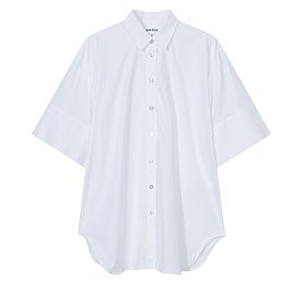 [Enfold] 와이드 하프 슬리브 셔츠