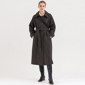 FW21 Merino Wool Single Coat Deep-forest