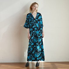 [TC21SSOP02BKBL] THE CENTAUR BALI DRESS [BLACK&BLUE]