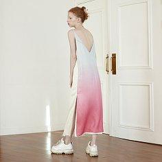 [TC21SSOP01] SILK GRADATION SLEEVELESS DRESS