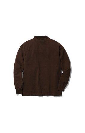 라이프 밸류 어패럴 Heavy Cotton Mockneck L/S Tshirt 헤비 코튼 모크넥 브라운