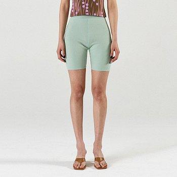 Rib Bike Shorts Mint