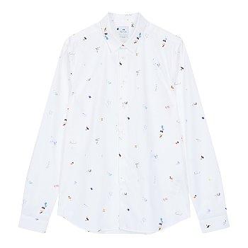 [PS PAUL SMITH] 드로잉 패턴 슬림 핏 셔츠