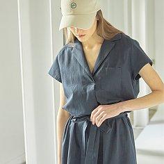 Cotton Mini Pocket Dress_Navy