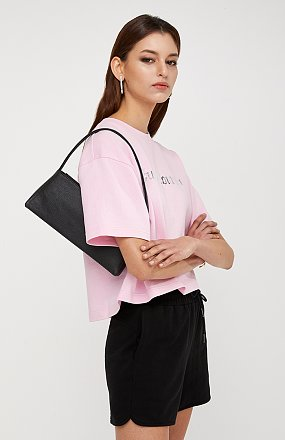 [LEISURE LINE] 쥬시 로고 프린트 크롭트 티셔츠