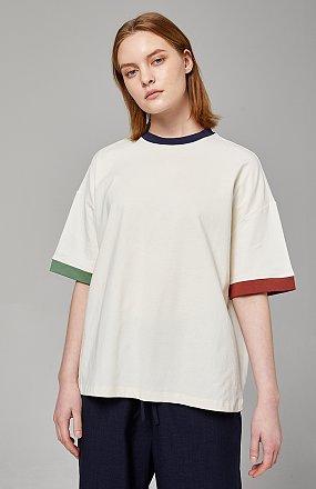 컬러블럭 티셔츠
