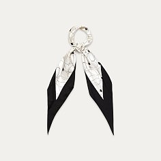 [매드고트] 다이아몬드 스카프 볼드 엣지_블랙 MGDMBEBLK
