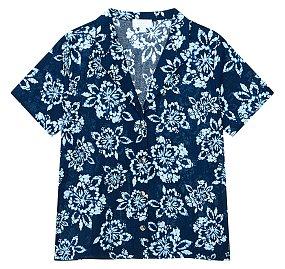 ★갭 여성 21년 SUMMER★  패턴드 노치트 라운지 셔츠