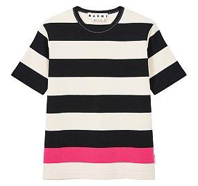 [MEN] 배색 스트라이프 티셔츠