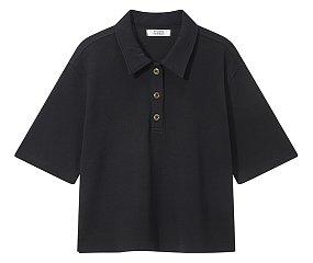컬러 블럭 & 솔리드 카라 티셔츠