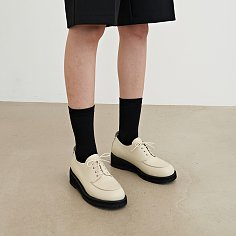 45mm Pablo Chunky Derby Shoes (White)