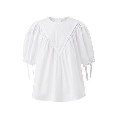 Cotton A line top - White