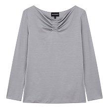 드레이프 포인트 레이온 티셔츠