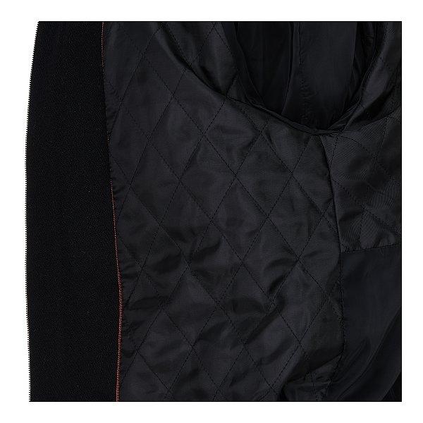 레더 배색 집업 트위드 자켓