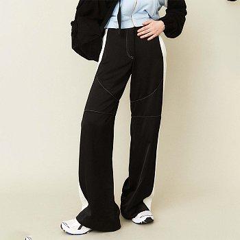 Divide Satin Pants Black