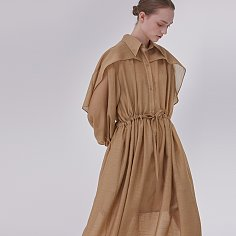 DEMERE BUTTERFLY DRESS (BROWN)