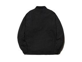 Heavy Cotton GarmentDyed Mockneck L/S 스노우피크 헤비 코튼 모크넥 블랙
