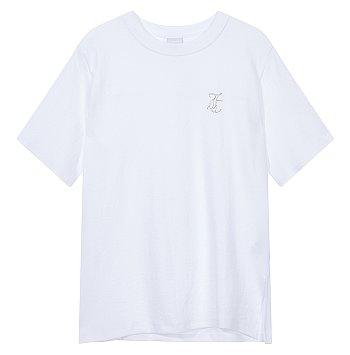 [LEISURE LINE] 쥬시 로고 크루넥 티셔츠