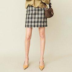 Padded Mini Skirt Check